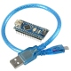 Board Compatible with Arduino Nano (ATmega328p + CH340)+30cm Cable