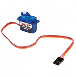 FS90R Micro Servomotor with Continuous Rotation and Plastic Reducer