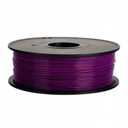1.75 mm, 1kg PLA Filament For 3D Printer - Transparent Purple
