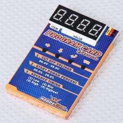 HobbyKing Programming Card for Car ESC