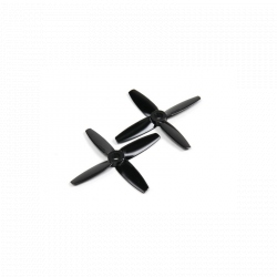 Gemfan 3035 Bullnose Polycarbonate 4 Blade Propeller Black (CW/CCW) (1 Pair)