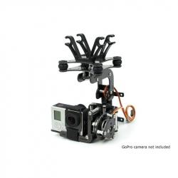 Gimbal HobbyKing cu motoare Brushless 2208 pentru camere de acțiune, cu construcție din carbon
