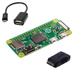 Raspberry Pi Zero + OTG Cable + Mini HDMI Adapter