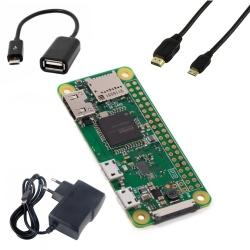 Pachet Raspberry Pi Zero + Alimentator + Cablu HDMI Mini + Cablu USB OTG