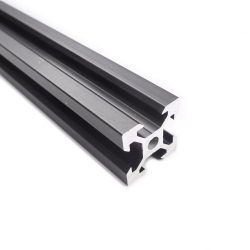 V-Slot Black Aluminium Profile 75 mm