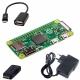 Raspberry Pi Zero + Power Supply + Mini HDMI Adapter + USB OTG Cable