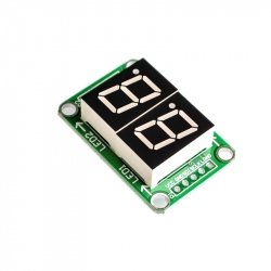 "0.5"" Red Dual 7-segment LED Display with 74HC595 Shift Register"