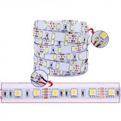 5630 SMD LED bar with diffuse color temperature 6500 K 12 V - 24 V (White Calda Shade) (5 m)