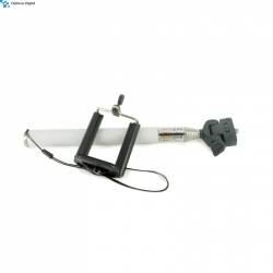 White Selfie Stick with Bluetooth and Button