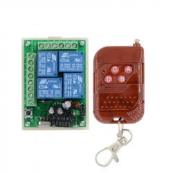 DC12V 4CH Wireless RF Remote Control Switch Transmitter Receiver Module