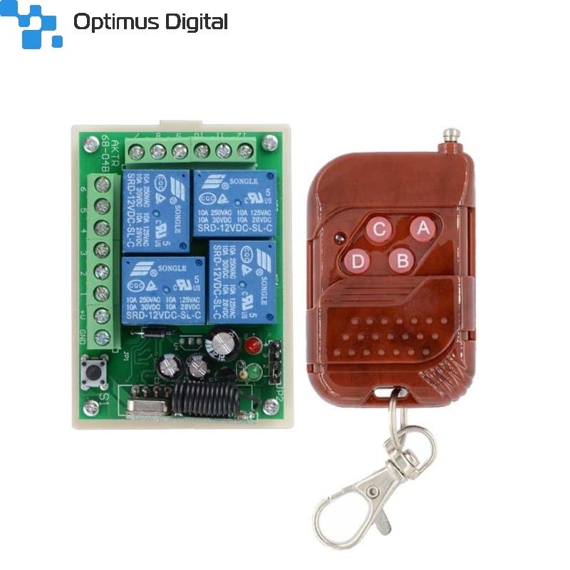 Dc12v 4ch Wireless Rf Remote Control Switch Transmitter