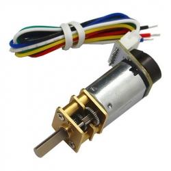 CGM12-N20VA-8200E Micro Gearmotor 1:380 with Encoder (6 V, 41 RPM)