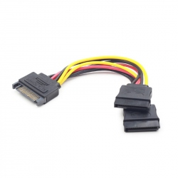 SATA power splitter cable, 0.15 m