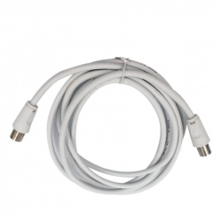 TV Plug to TV Socket, 5 m, White Color