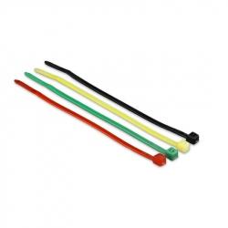 Self-Locking Nylon Cable Ties,100 mm x 2.5 mm, 4 Color Set, Bag of 100 pcs