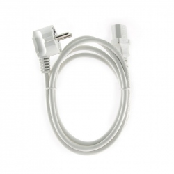 Power Cord (C13), VDE Approved, White, 6 ft