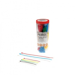 NYLON CABLE TIE SET - VARIOUS COLOURS (300 pcs)