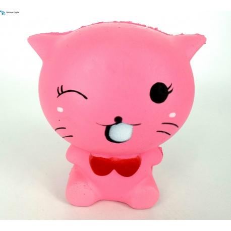 Squishy Antistress Pisica roz Parfumat cu Revenire Lenta (Roz) - Optimus Digital