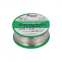 0.7 mm Lead Free Solder Sn 99 Cu 07 Ag 03 - EVO / 3 / 3.0% (SAC0307) Low SAC (100 g)