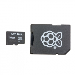 Original MicroSD Card 16 GB for Raspberry Pi 3 Model B+, Preinstalled with NOOBs (bulk)