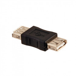 USB 2.0 Female - Female Adapter - Black