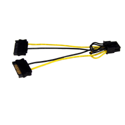 2 x 15-pin SATA Power Cable to PCI EXPRESS 8-pin