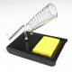 Rectangular Soldering Iron Stand with Solder Support