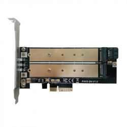 PC Expansion Card with 1 x M.2 Key B and 1 x NVME M.2 Key M