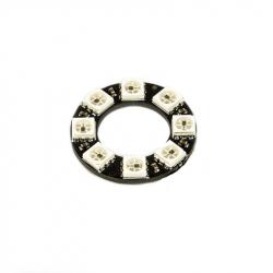 LED Ring with 8 Addressable WS2812 RGB LEDs