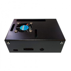 Black Metal Case for Raspberry Pi 3 Model B+ (88 mm x 65 mm x 32 mm)