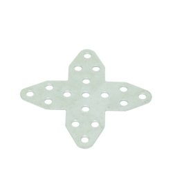 Metalic Cross Plate blunt-ended 35x35 mm