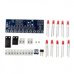 NE555 + CD4017 LED Learning Board Kit