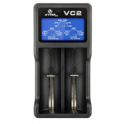 Li-Ion 18650 XTAR VC2 Charger with LCD for Accumulators