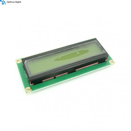 Modul LCD 1602 cu Backlight Galben-Verde de 5V