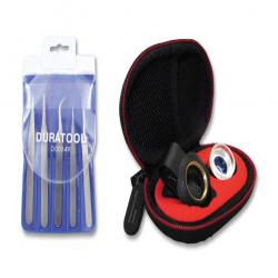 Industrial Tweezer Set (5 Piece) & Inspection Magnifier, Macro Lens