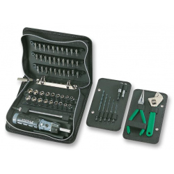 Tool Kit, Plier, Wrench, Socket Adaptor, Drill Bits, Ratchet