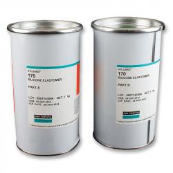 SYLGARD 170, 2KG -  Silicone Elastomer, 2 Part, 1:1 Mix, Sylgard® 170, Black / White, Container, 2kg