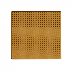 PCB, Punchboard, Clad 1 Side, Epoxy Glass Composite, 1.57mm, 431.8mm x 114.3mm