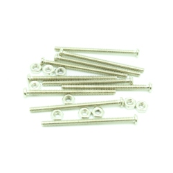 M2 18 mm Screw + Nut (10 pcs pack)