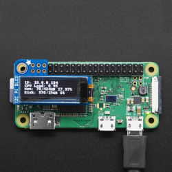 Adafruit PiOLED - 128x32 Monochrome OLED Add-on for Raspberry Pi