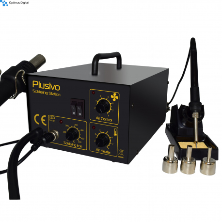 Plusivo Hot Air Soldering Station with Soldering Gun Included