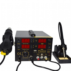 Plusivo Digital Hot Air Soldering Station - Soldering Gun and Power Supply Included