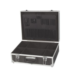 TOOL CASE WITH ALUMINIUM FRAME - 455 x 330 x 152 mm - BLACK