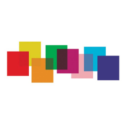 Colored filter sheets - 8 pcs