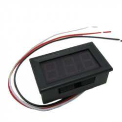 0.56'' Red DC Panel Voltmeter with 3 Wires (0 - 30 V)