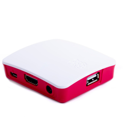 White and Red Case for Raspberry Pi 3 Model A+