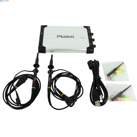 Plusivo V1022 USB Oscilloscope (2 Channels, 25 MHz, 100 Msps)