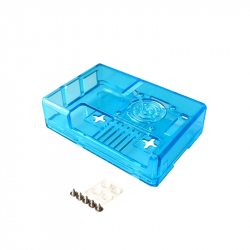 Transparent Case for Raspberry Pi 3 Model B+ Blue