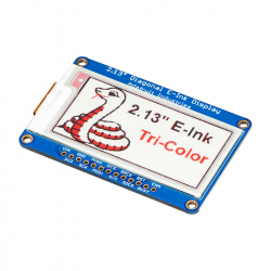 "Adafruit 2.13"" Tri-Color eInk / ePaper Display with SRAM - Red Black White"