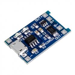 Incarcator TP4056 cu MICRO USB pt. Baterie LiPo (1A) cu Protectie pentru Circuite